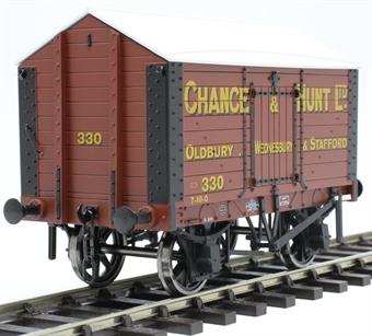 "7F-018-007 4 wheel salt van - ""Chance and Hunt, Oldbury and Stafford"""