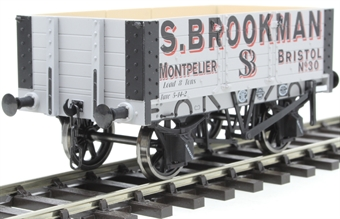 "7F-052-001 5-plank open wagon with 9ft wheelbase - ""S.Brookman, Bristol"""