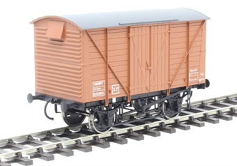 7F-056-013 12-ton van with planked sides B758511 in BR bauxite