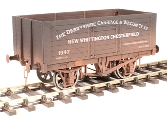 """7F-080-027W 8-plank open wagon """"Derbyshire Carriage and Wagon Company"""" - weathered"""