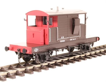 7F-100-006 SR Pill Box brake van 55526 in Southern Railway brown and red with small letters