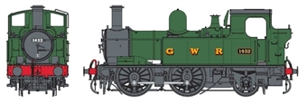 7S-006-020D Class 14xx 0-4-2T 1432 in GWR unlined green with G W R lettering - DCC Fitted