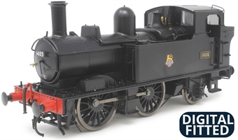 7S-006-021D Class 14xx 0-4-2T 1405 in BR black with early emblem - DCC Fitted