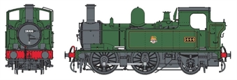 7S-006-022D Class 14xx 0-4-2T 1444 in BR lined green with early emblem - DCC Fitted