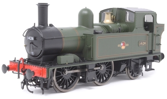 7S-006-023D Class 14xx 0-4-2T 1426 in BR lined green with late crest - DCC Fitted