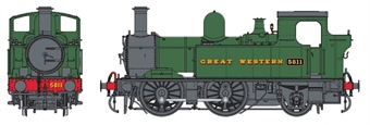 7S-006-050D Class 58xx 0-4-2T 5811 in GWR green with Great Western lettering - DCC Fitted