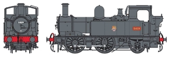 7S-006-052D Class 58xx 0-4-2T 5819 in BR black with early emblem - DCC Fitted