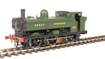 7S-007-002S Class 57xx 0-6-0PT pannier 5700 in Great Western Green - DCC sound fitted