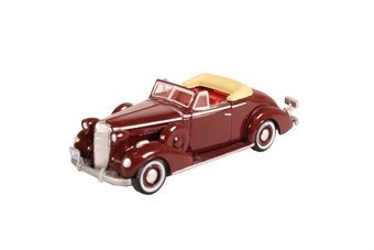 87BS36003 Buick Special convertible couple - 1936 cardinal maroon