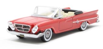 87CC61001 Chrysler 300 Convertible 1961 (Open) Mardi Gras Red