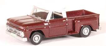 87CP65003 Chevrolet Stepside pick up 1965 metallic maroon