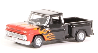 87CP65004 Chevrolet Stepside Pick Up 1965 Red/White