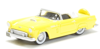 87TH56005 1956 Ford Thunderbird Goldenglow Yellow/Colonial W