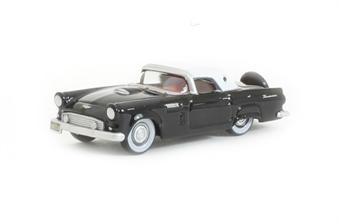 87TH56006 1956 Ford Thunderbird Raven Black & Colonial White