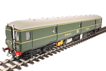 8910 Class 128 parcels DMU W55991 in BR green with speed whiskers
