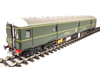 8911 Class 128 parcels DMU W55993 in BR green with speed whiskers