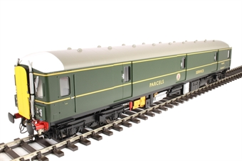 8912 Class 128 parcels DMU W55992 in BR green with yellow doors