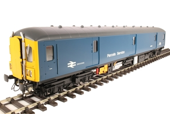 8913 Class 128 parcels DMU M55994 in BR blue with yellow ends