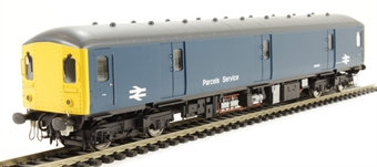 8940 Class 128 parcels DMU M55993 in BR Blue with full yellow ends and flush fronts