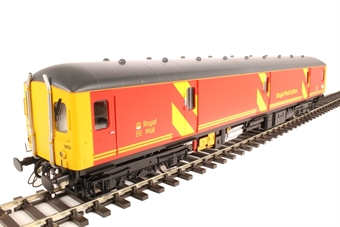 8951 Class 128 parcels DMU 55993 in Royal Mail red