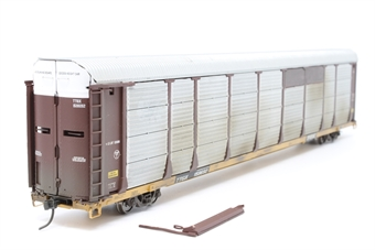 920-101305-PO01 89' Thrall Bi-Level Auto Carrier #159692 of the Southern Pacific Railroad - Pre-owned - weathered, one side panel loose