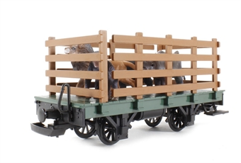 94062 Cage car with 4 animals