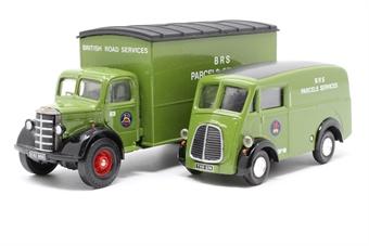 97200-PO03 British Road Services Set - Morris J Van & Bedford Box Van - Pre-owned - Like new