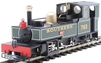 "9951 Lynton & Barnstaple 2-6-2T 760 ""Exe"" in Southern Railway green"