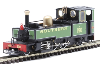 """9963 Lynton & Barnstaple 2-6-2T 190 """"Lyd"""" in Southern Railway green - as preserved"""