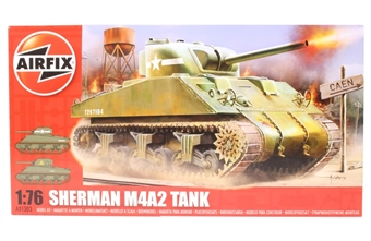 A01303 Sherman M4 MK1/MkII tank with US Army and British Army marking transfers - Suitable load for OO Warwell Wagon £5.50