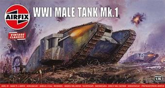 A01315V WW1 Mk1 Male tank - Airfix Classics range - plastic kit