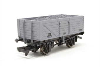 B568-PO02 7 plank open coal wagon in BR grey (with load) - Pre-owned - Like new - Imperfect box
