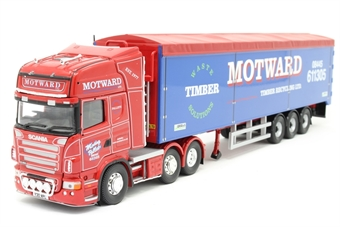 """CC13752-PO Scania R Moving Floor Trailer """"Motward Timber Recycling Ltd, Huntingdon"""" - Open box, Lightbar damaged and loose from top of cab"""