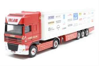 CC87003-PO02 Leyland DAF 85 Curtainsider 'James Irlam' - Pre-owned - marks to trailer, replacement box