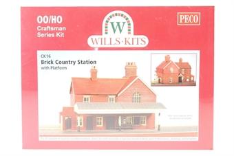 "CK16 ""Craftsman"" kit - brick built country station with platform"