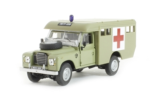 CR036 Land Rover Ambulance in Army desert sand