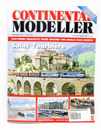 ContinentalModeller1812 Continental Modeller magazine - December 2018 - with free kit (assorted)
