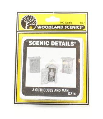 D214 3 Outhouses & Man