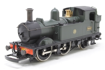 D97-PO05 Class 14xx 0-4-2T 4842 in GWR green - Pre-owned - renumbered - missing one coupling hook - Imperfect box