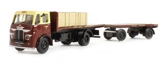 "DA56 Leyland Beaver flatbed & trailer ""British Railways"""
