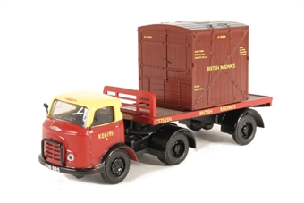 "DB13 Karrier Bantam articulated flatbed ""British Railways"" with Type A container"