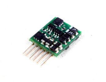 DCC23 6-pin 2-function 1A (2A peak) decoder (suitable for N gauge)
