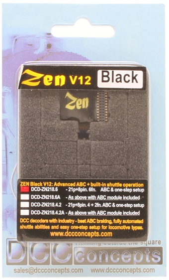 DCD-ZN218-6 Zen Black - 8 and 21 pin 6 function digital decoder