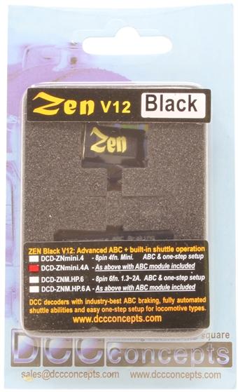DCD-ZNmini-4A Zen Black - 8 pin micro 4 function digital decoder with ABC module