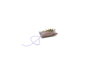 DCR-8PIN-Direct-PO02 8-pin compact direct 4-function 1.1Amp decoder with back EMF - Open box, Replacement bag