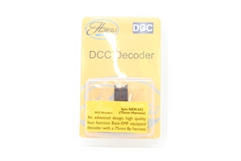 DCR-8PIN-Harness-PO05 8-pin (harness) 4-function 1.1Amp decoder with back EMF - Pre-owned - Like new