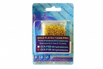 DCR-P100 Gold-plated heavy duty track pins - pack of 100