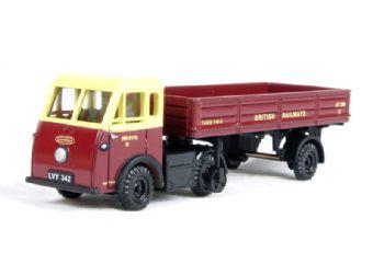 "EM76502 Jen-Helecs & dropside trailer in ""British Railways"" livery"