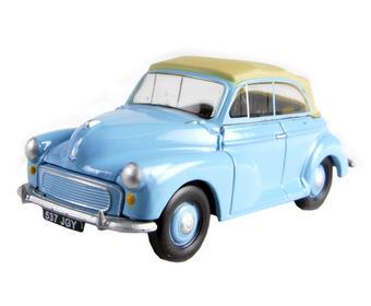 EM76822 Morris Minor convertible - blue