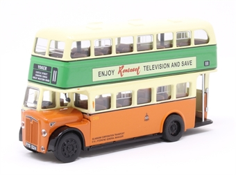 "GDG-19 Daimler ""Glasgow Corporation Transport"" 11 Yorker with Omo washing powder / Rentaset televisions adverts (FYS 524) £49"